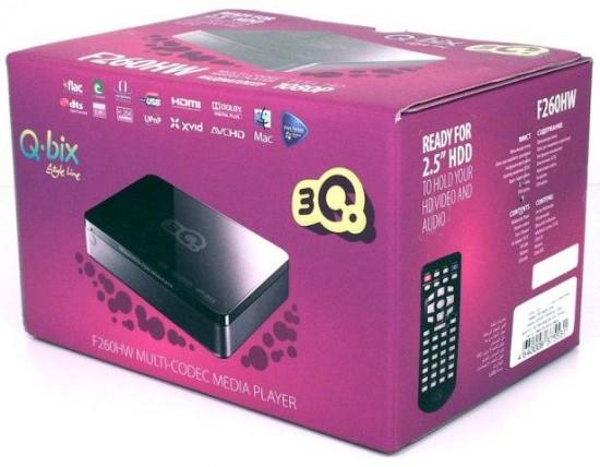 Упаковка медиаплеера 3Q Q-bix F260HW