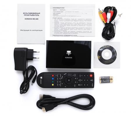 Комплект поставки медиаплеера Konoos MS-600