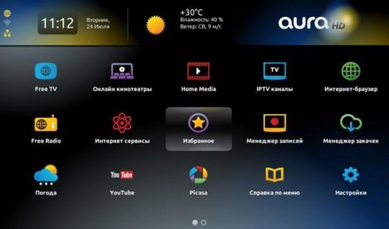 Украинский IPTV медиаплеер AuraHD