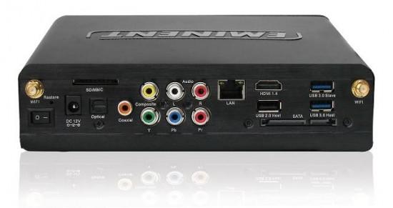 Медиаплеер EM 7385 - задняя панель