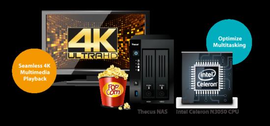 Сетевое хранилище Thecus N2810PRO с поддержкой 4К-видео