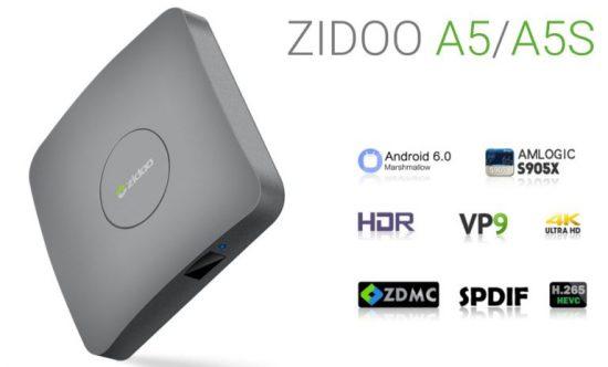 ZIDOO A5S отличается от ZIDOO A5