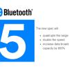 Bluetooth 5 будет вдвое быстрее Bluetooth 4.2