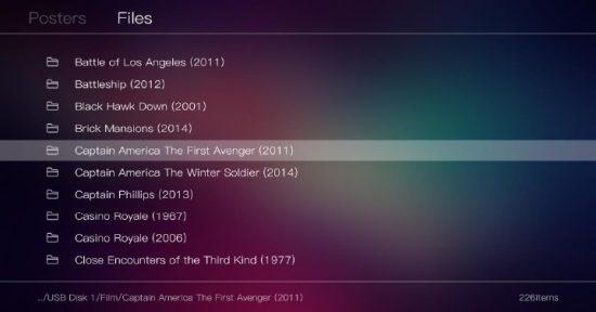 Поддержка длинных имен файлов дисплей (для PT / BT видео ресурсов)