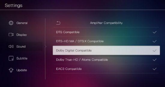 Поддержка Dolby True-HD/Atoms и DTS-HD MA/DTS:Xpassthrough