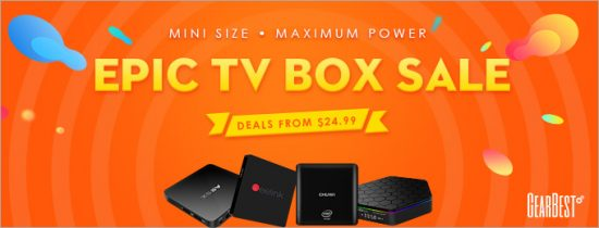 Эпическая распродажа ТВ приставок на GearBest.com