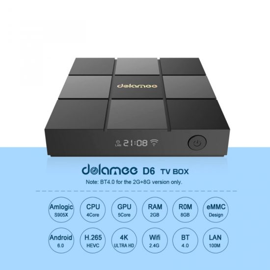 Android TV Box Dolamee D6