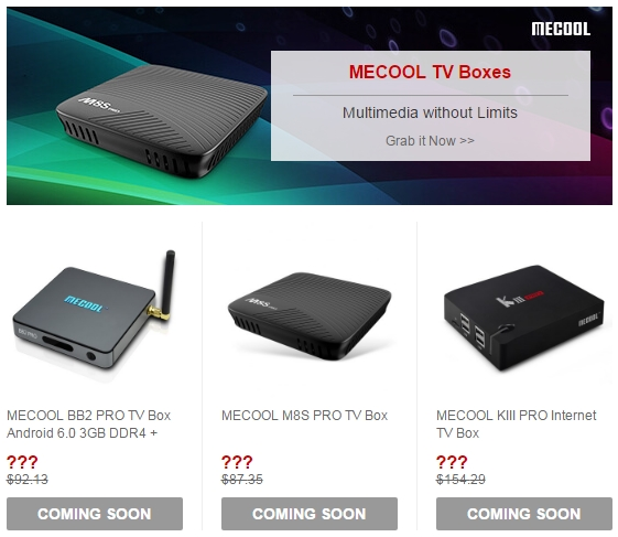 Mecool TV Boxes