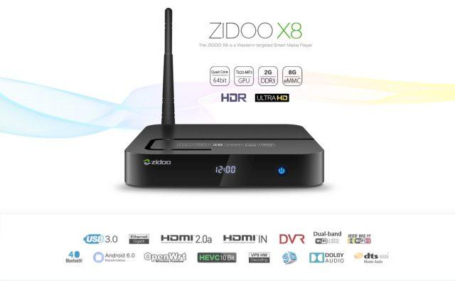 Купить Zidoo X8