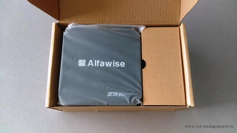 Упаковка ТВ Бокса Alfawise Z28 PRO