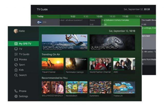 Настраиваемый пользовательский интерфейс SPB TV Home