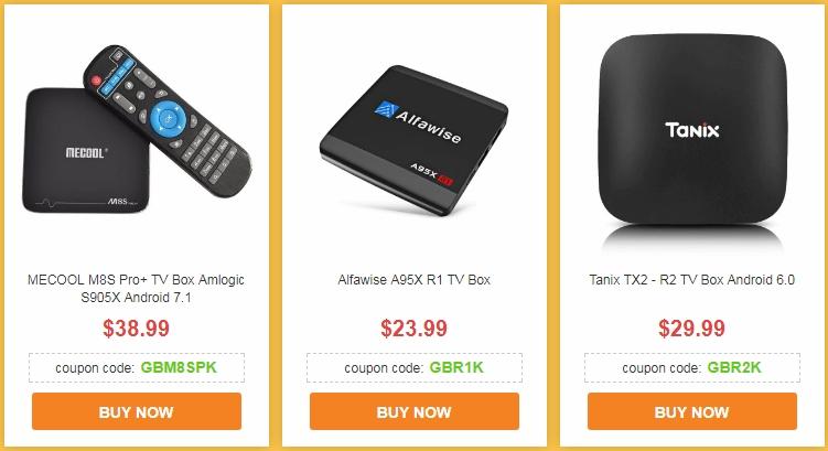 Купоны для покупки ТВ приставок и мини-ПК