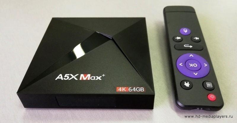 Обзор ТВ-бокса A5X MAX+
